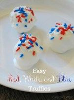 Easy Red, White, and Blue Truffles