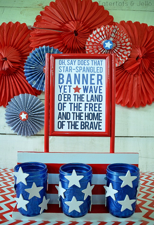 fourth of july ombre printable