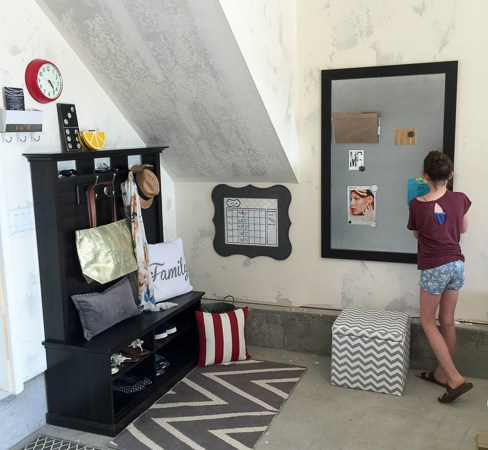 TV Entertainment Center to Locker Station (and giveaway)