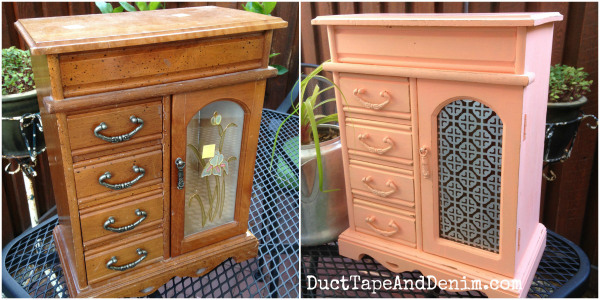 Before-and-after-vintage-jewelry-box-makeover.-DuctTapeAndDenim.com_