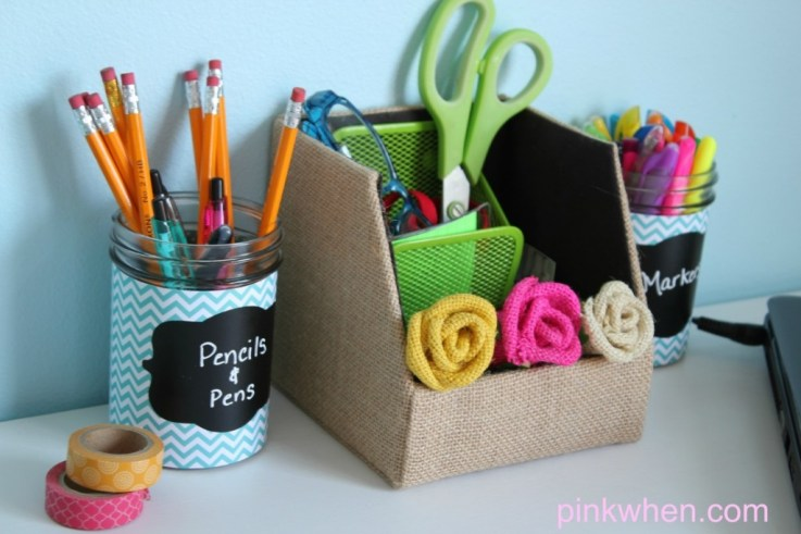 Student-Desk-Accessories-Burlap-Washi-Tape-and-Chalkboard-Labels
