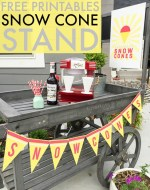 Snow Cone Stand – Free Printables!