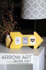 DIY Arrow Art Quote Sign
