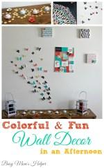 Colorful and Fun Wall Decor