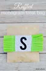 Ruffled Monogram Treat Bag