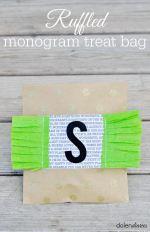 Ruffled Monogram Treat Bag