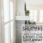 3 Reasons I Chose Shutters for the 1905 Cottage Family Room [And $400 Blinds.com giveaway!]