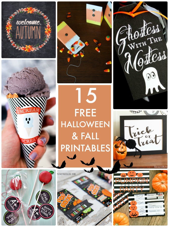 15 Free Halloween & Fall Printables
