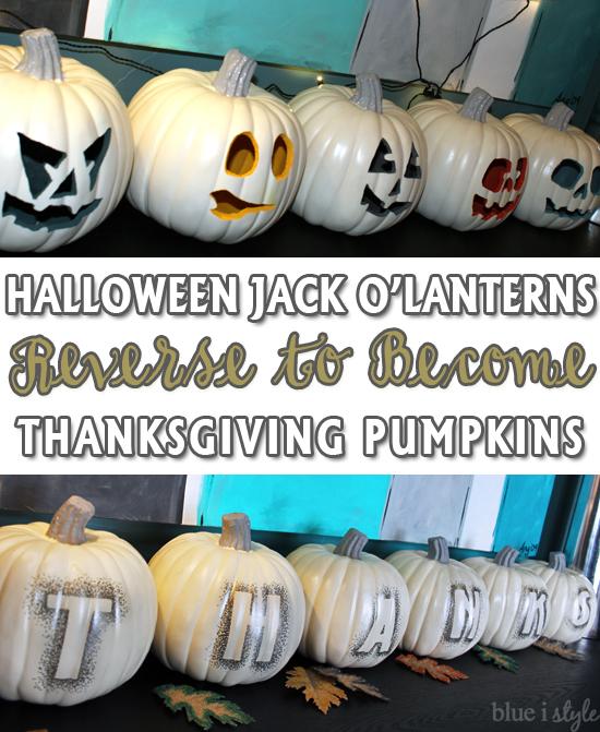 blue i style - HalloweenJackOLanternsBecomeThanksgivingPumpkins