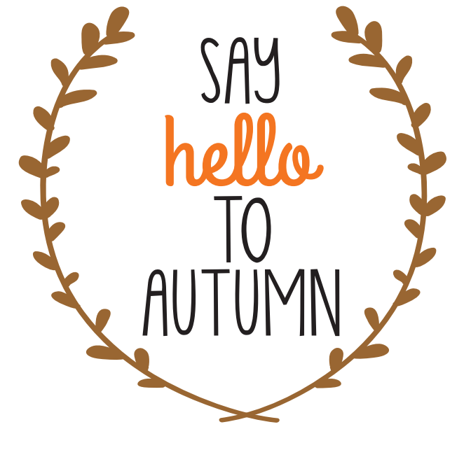 brown say hello to autumn printable