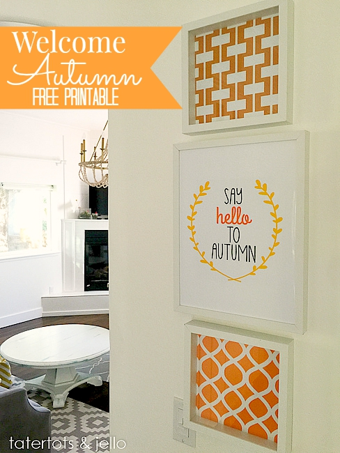 hello autumn free printable