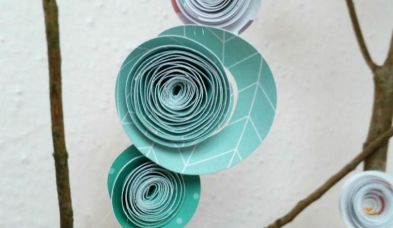 DIY Paper Blossom Branches
