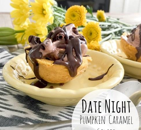Pumpkin Caramel Gelato Cookie Cups!