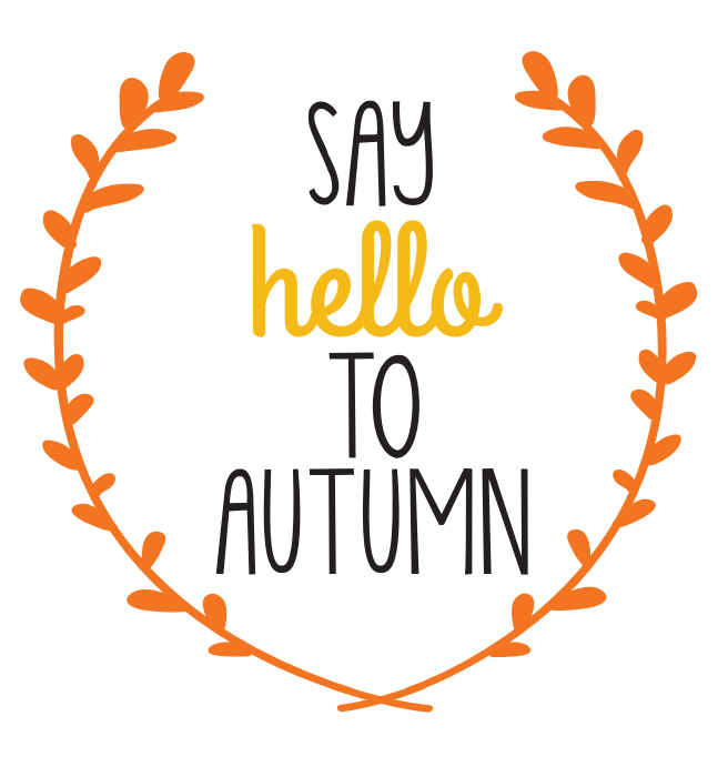 image relating to Autumn Printable named Say Hello there in the direction of Autumn\