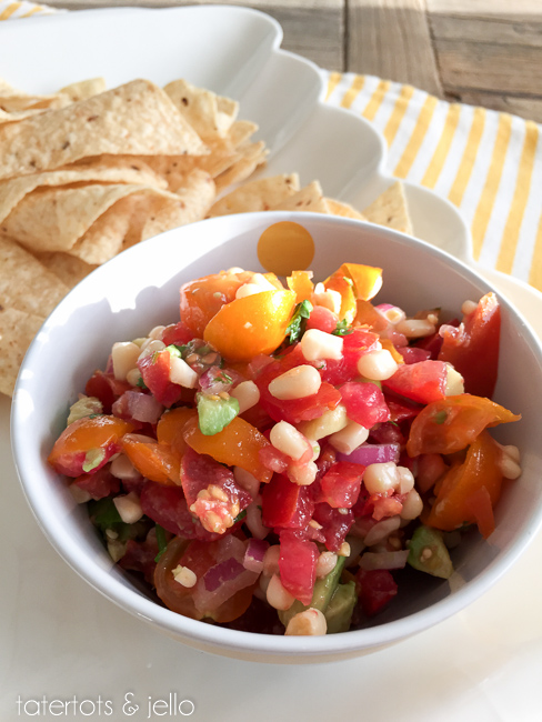 Cowboy Salsa recipe. An easy and delicious way to use fresh tomatoes.