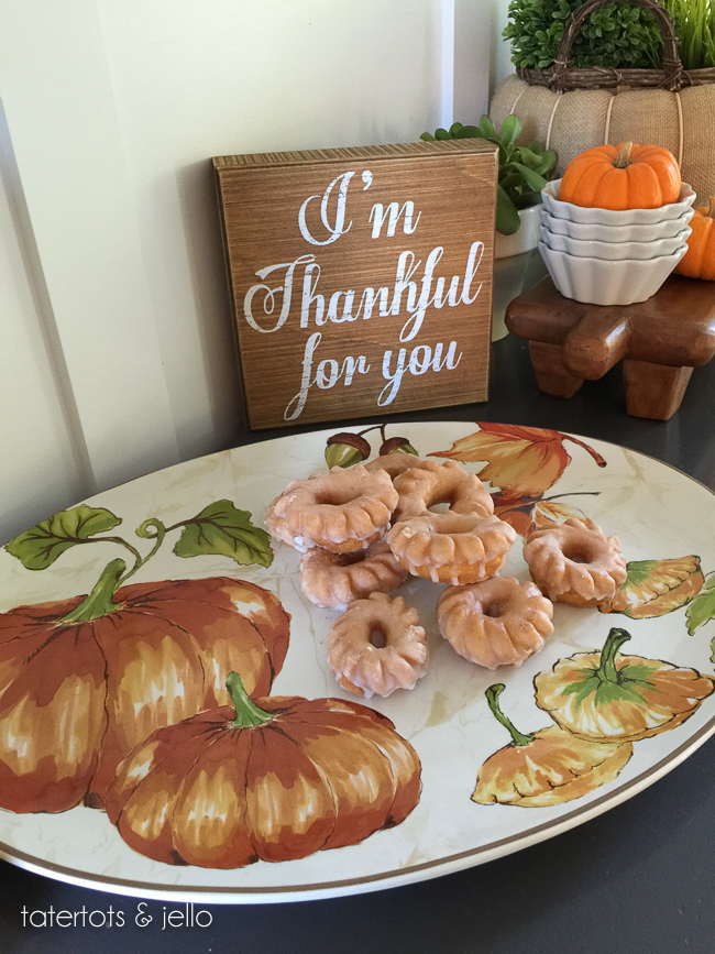 Autumn Pumpkin Platter