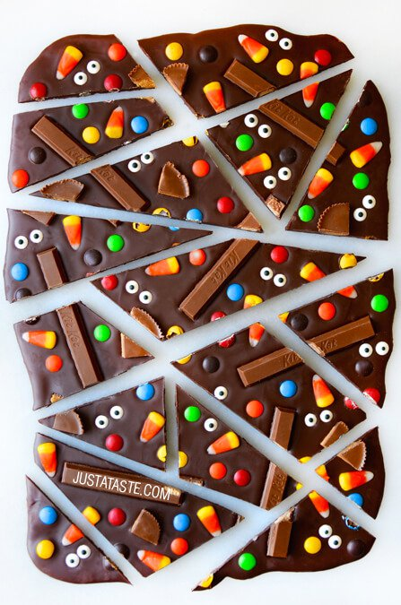halloween Chocolate Candy Bark Recipe