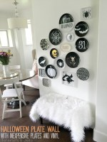 Make a Halloween Plate Wall with Inexpensive Plates and Vinyl  – plus Free Cuttable Files!
