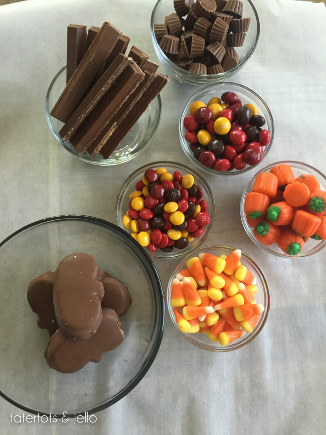 Toppins for Halloween Candy Bark