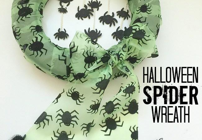 Make a Whimsical Halloween Spider Wreath!