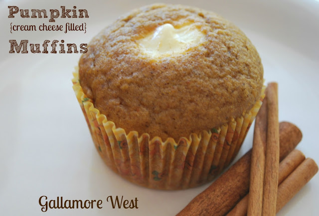pumpkin cream cheese filled muffin recipe for fall