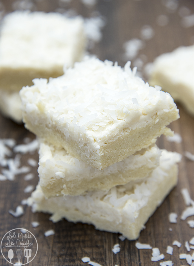 Coconut Sugar Cookie Bars