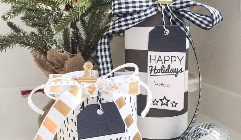 Pretty Packages – Black and White Printable Holiday Gift Tags!