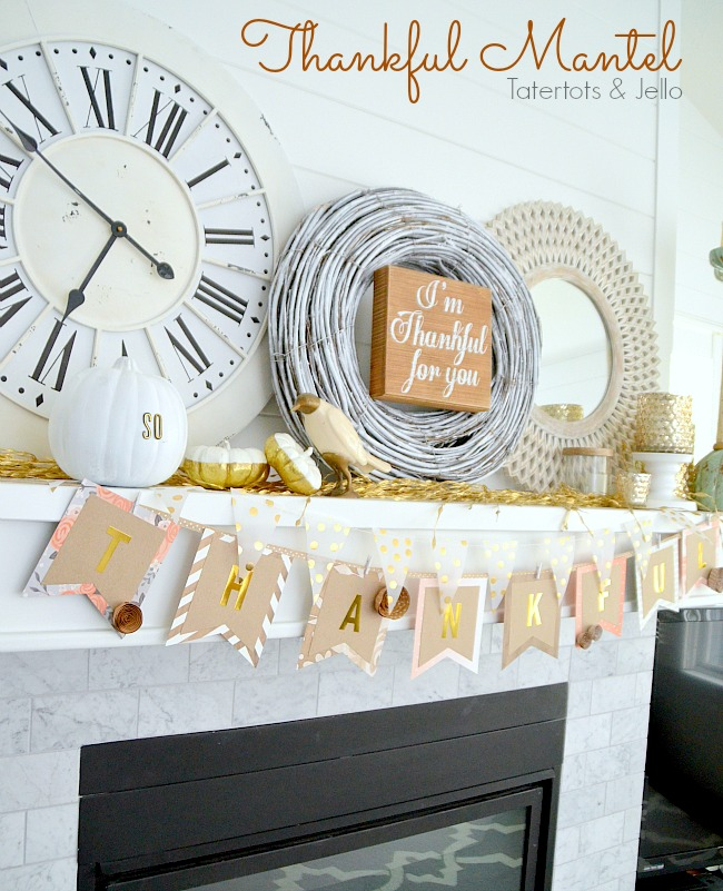 Thanksgiving Mantel and Bunting