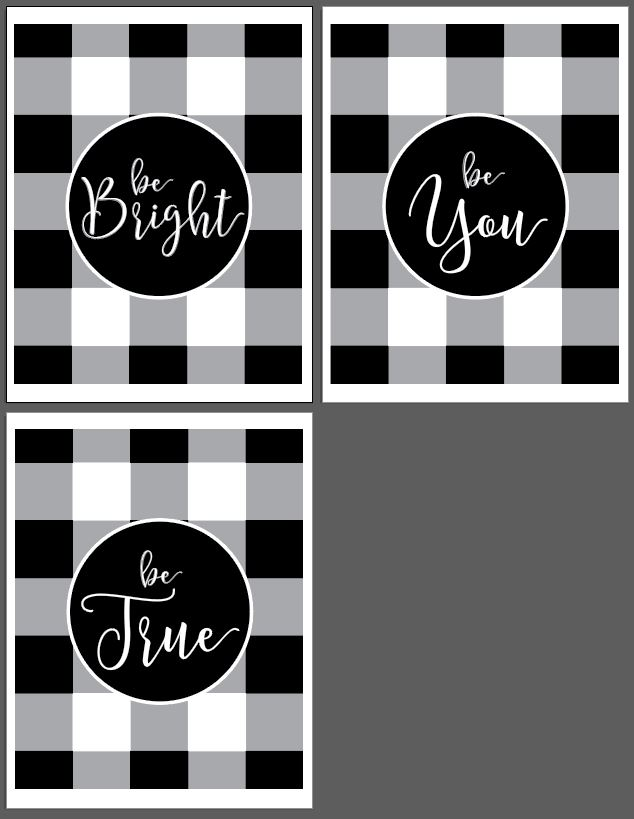 be bright be true be you 8 x 10 tatertotsandjello