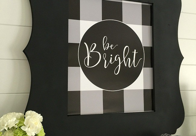 My Word of the Year – Bright! And free Buffalo Check Plaid Printables