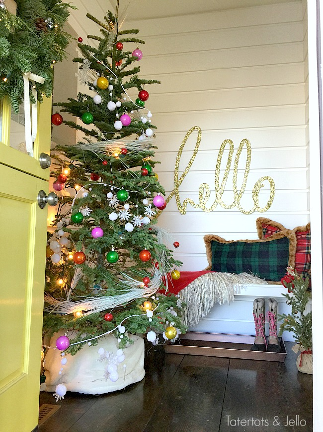 holiday hello entryway