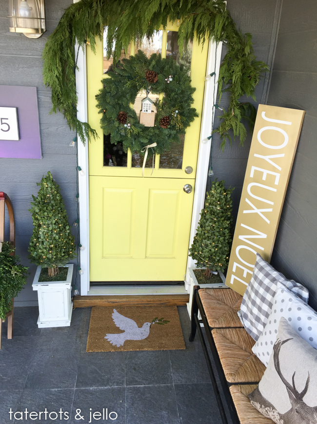 christmas porch and entryway