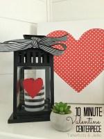 10 Minute Valentine Centerpiece Idea