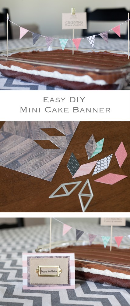 easy DIY Paper Cake banner