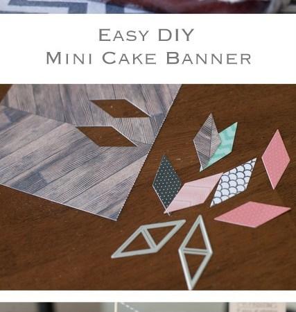 Make an Easy DIY Paper Mini Cake Banner!