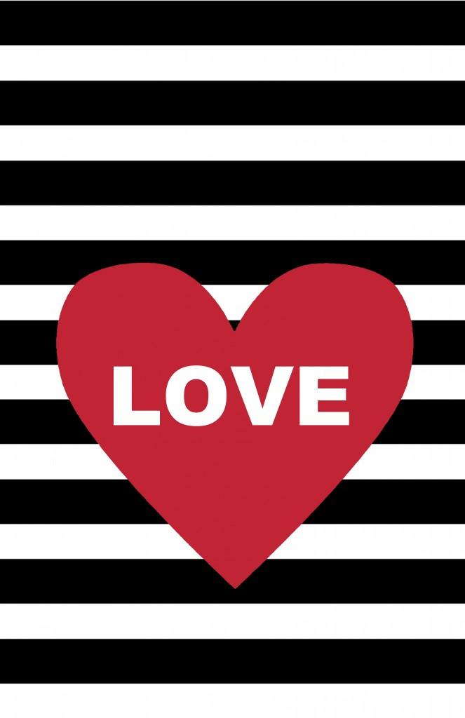 Heart w-love 11 by 17 Clipboard