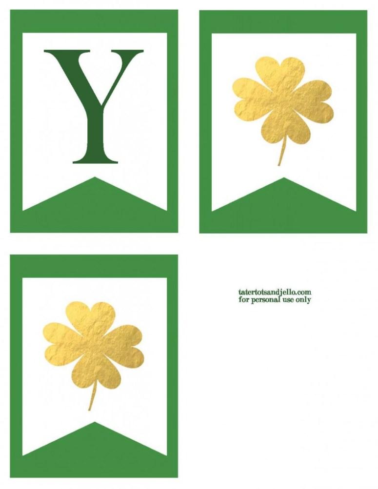 TT&J Gold Lucky Banner St. Patricks Day p2.2