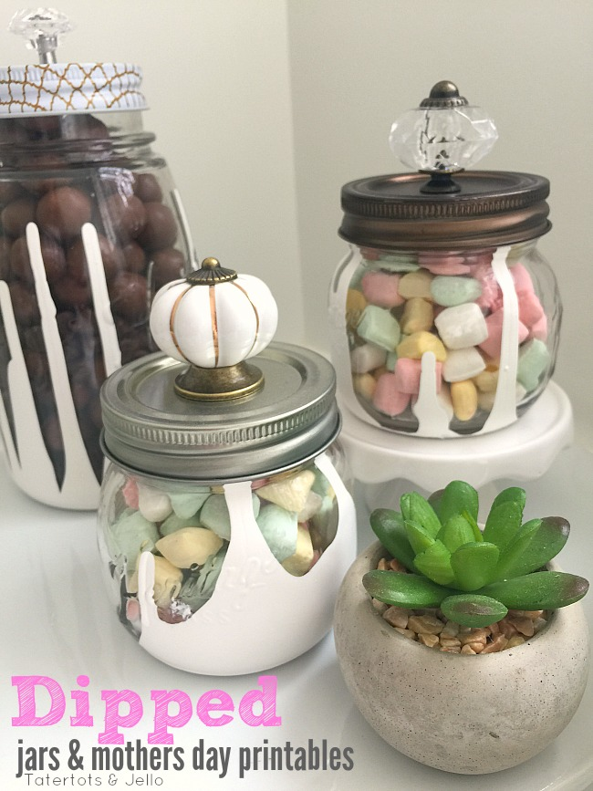 Dripped Mason Jar Gift Ideas