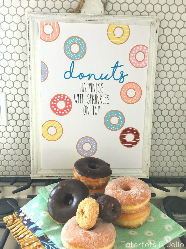 Donuts and happiness printable