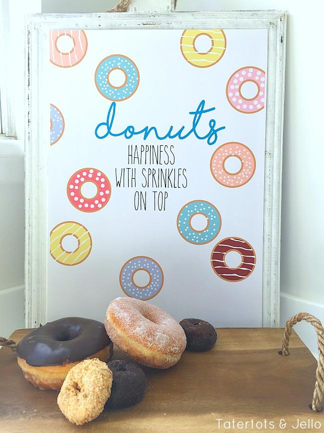 donuts sprinkles free printables