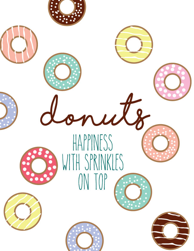 photo relating to Donut Printable called Donuts with Sprinkles printables