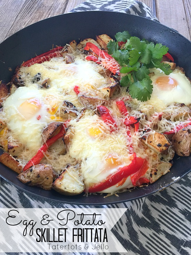 Egg and potato skillet frittata