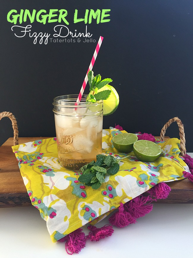 Ginger Lime Fizzy Drink Recipe