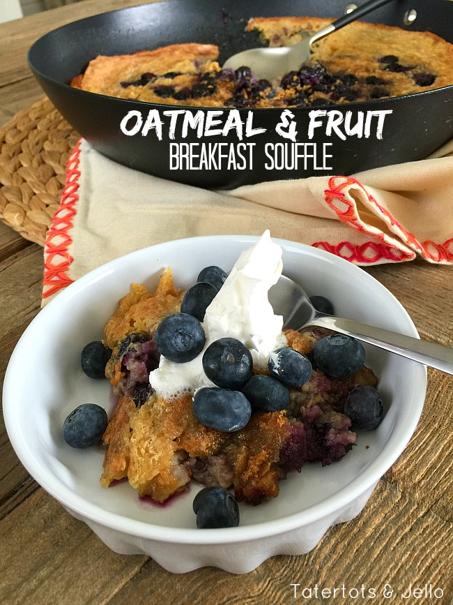 Oatmeal and fruit breakfast souffle