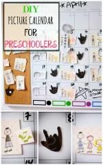 DIY Picture Calendar for Preschoolers