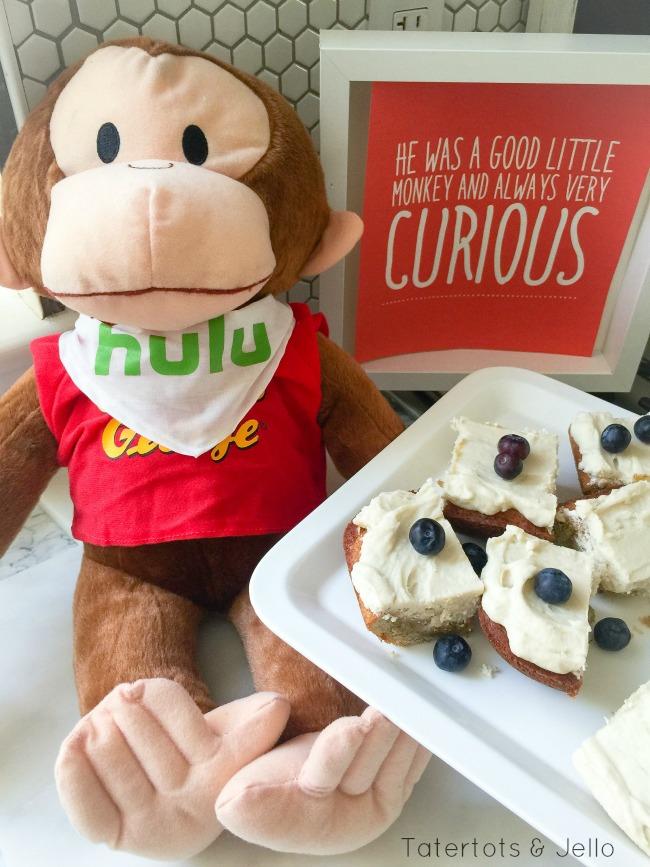 curious george on hulu and banana bar recipe