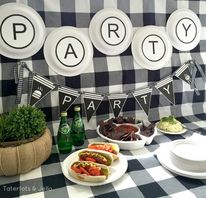 free BBQ party printables