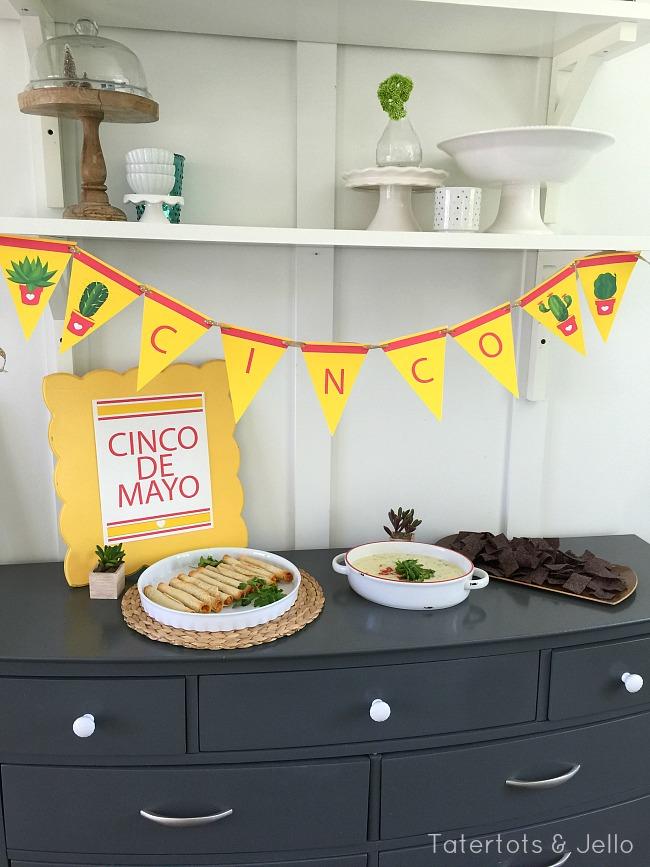 cinco de mayo party printables and queso recipe