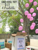 Gender Reveal Party Balloon DIY and Printable!