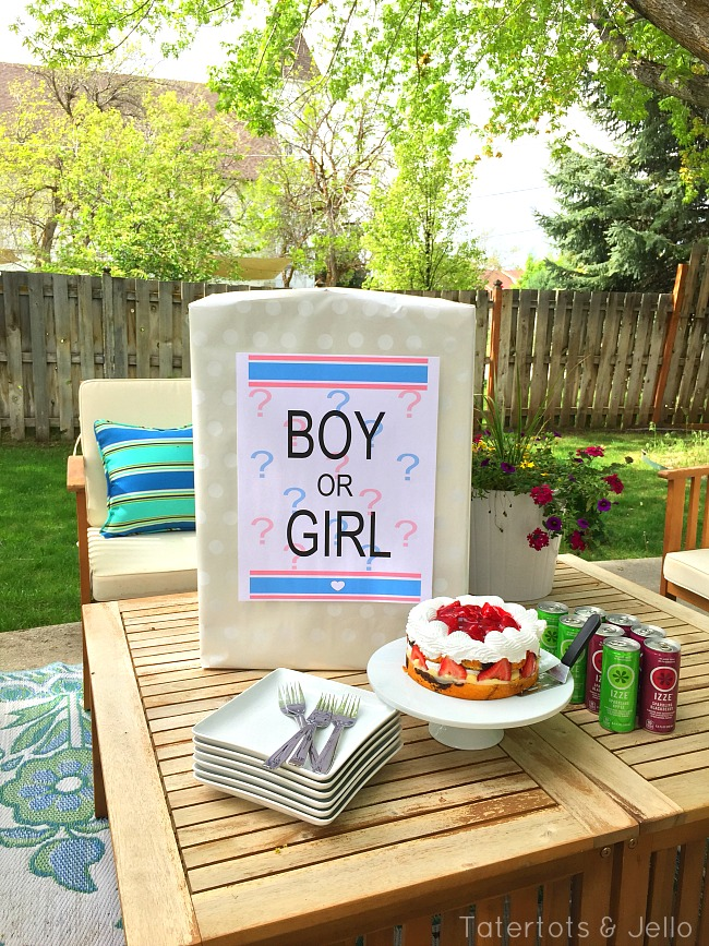 gender reveal party printable and diy idea tatertots and jello